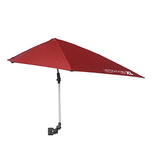 Sport-Brella Versa-Brella XL (Firebrick Red) - All Position Umbrella with Universal Clamp, Firebrick Red
