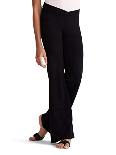 Capezio Big Girls' Tactel Jazz Pant, Black, Medium