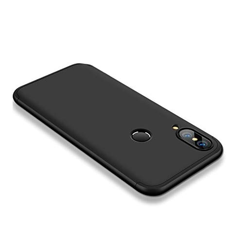 Huawei P20 Lite Case Slim 3 in 1 Hard PC Matte Surface Non Slip Shockproof Anti-Scratches Full Body Protective Cover for P20 Lite (2018) (Black, Huawei P20 Lite)