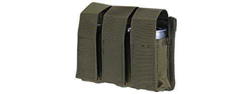 Molle 40mm Grenade - Lancer Tactical Triple Molle M203 Grenade Pouch (OD Green)