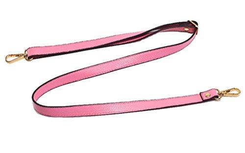18MM Width Leather Adjustable Length Replacement Cross Body Purse Handbag Bag Shoulder Bag Wallet Strap (Pink)