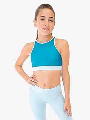 Capezio Colorblock High Neck Bra Top - Size X-Large, Blue Blue Dream