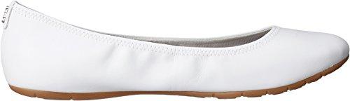 Cole Haan Womens Zerogrand Stagedoor Stud Ball Flat Flat White / Bay