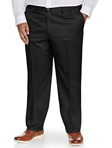 - 313bYULU4mL - Amazon Essentials Men's Big & Tall Classic-fit Wrinkle-Resistant Flat-Front Dress Pant fit by DXL