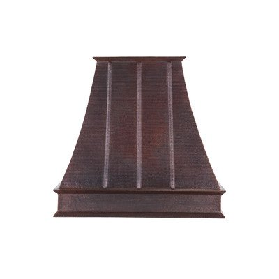 38 in. Hand Hammered Copper Wall Mounted Euro Range Hood (735 CFM with Screen Filters) by Premier Copper Products