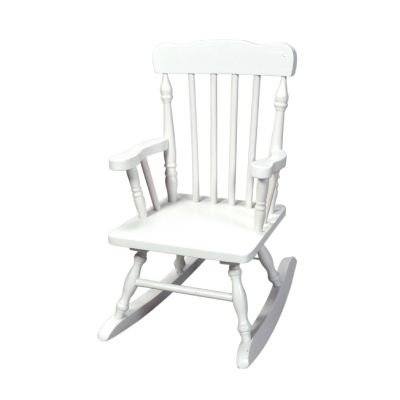 Gift Mark Child's Colonial Rocking Chair, White (Spindle Rocking Chair)