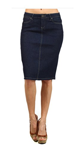 Tabeez Women's Solid Denim Workwear Penc - Wear Jean Skirt Shopping Results