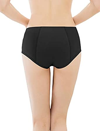TAIPOVE Women Cotton Menstrual Underwear Leakproof Protective Period Panties Mid Waist Comfortable Easy Clean Briefs 3 Pack