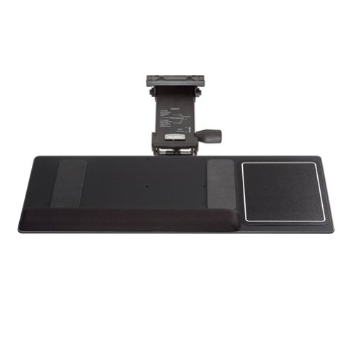 (Kelly Computer KCS69511 Leverless Lift N Lock Extended Keyboard Tray with Open Mouse Surface)