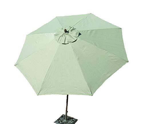Formosa Covers 9ft aluminum market umbrella with Crank & Tilt - Sage Green