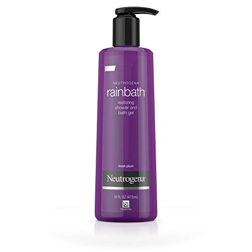 Neutrogena Rainbath Restoring Shower And Bath Gel, Moisturizing Body Wash and Shaving Gel with Clean Rinsing Lather, Fresh Plum and Floral Scent, 16 fl. oz