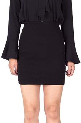 Dani's Choice Smart Stretch Cotton Blend High Waist Pencil Bodycon Short Mini Skirt