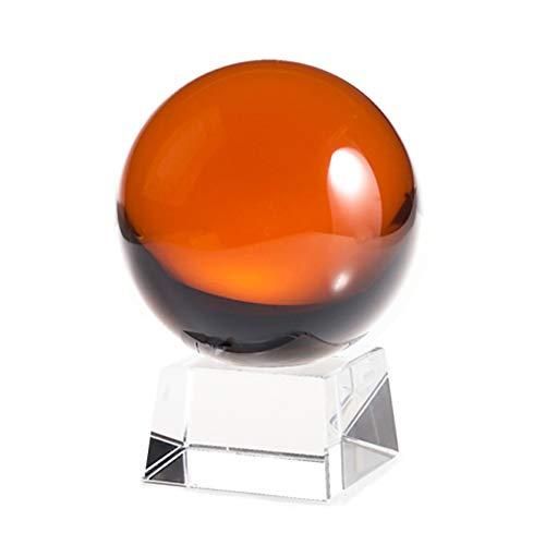- Amlong Crystal CB060CC-AMBER 60mm Amber Ball with Angled Crystal Stand