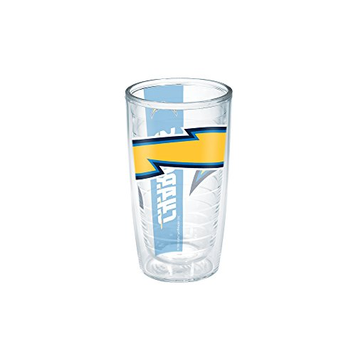 Diego Tumbler San Chargers Nfl (Tervis NFL San Diego Chargers Colossal Wrap Individual Tumbler, 16 oz, Clear)