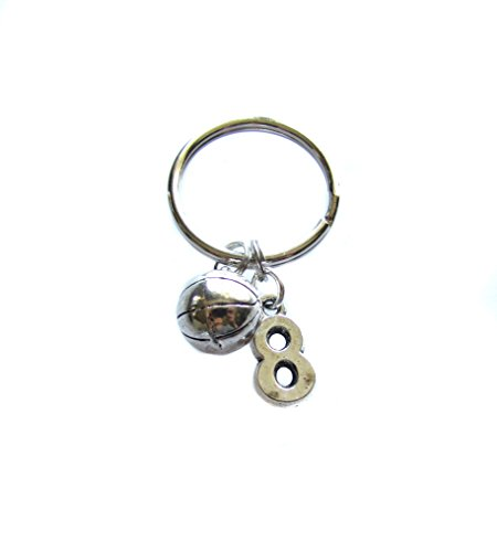 Custom Basketball, Number Charm, Keychain, Sports Bag Charm (Custom Basketball Bags)