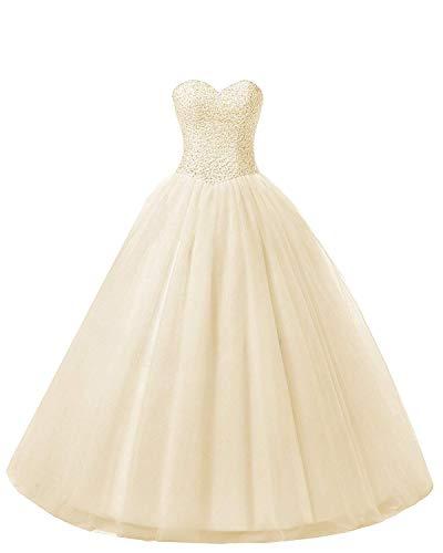 Beautyprom Women's Ball Gown Bridal Wedding Dresses (US20W, Champange)