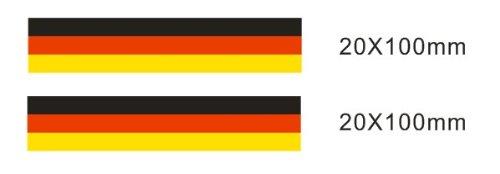 Lote 2 pegatinas vinilo impreso para coche, pared, puerta, nevera, carpeta, etc. Bandera de alemania SUPER STICKER