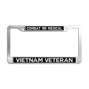 Amazon Com Combat Medical Vietnam Veteran License Plate