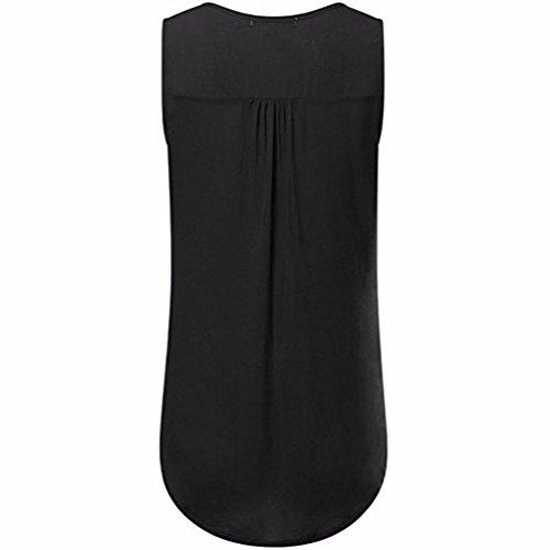 Gilet Femmes Dames shirt Manches L4 Shirt Sexy Tops Noir Sans Noir T Dbardeur Pour shirt Yanhoo cou Taille D't Dcontract Vtements Blouse Femmes Plus T T O Filles ZxOdzUq