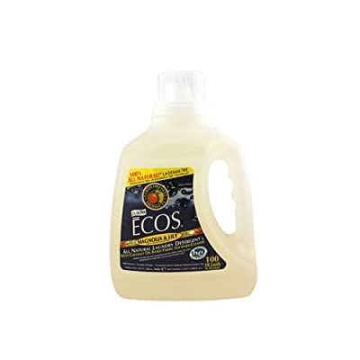 Earth Friendly 100 fl oz Ecos Ultra 2X All Natural Laundry Detergent - Magnolia And Lily - Case Of 4