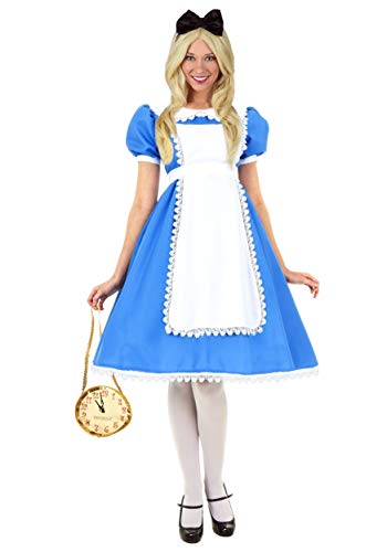 Supreme Alice Costume Women's Alice in Wonderland Dress Small Blue ()
