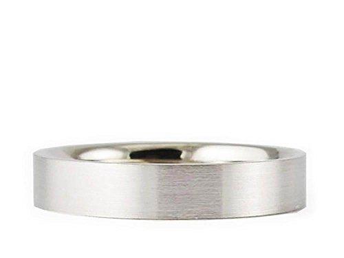 (Men's & Women's Platinum 950 Flat Brushed 3mm COMFORT FIT WEDDING BAND size 13)