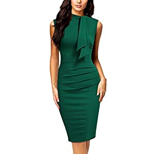 Collar Ruffle Pencil Dress
