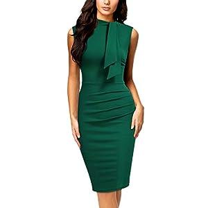 Collar Ruffle Pencil Dress