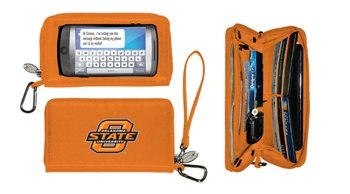(Charm14 NCAA Oklahoma State Cowboys Deluxe Cell Phone Wallet-Fits All Phones)