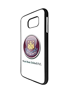 (Football) Player Samsung Galaxy S6 Fundas Case for Girl Woman , White West Ham United FC Fundas Case English Premier League/EPL Pattern New Design Impact Resistant Protective