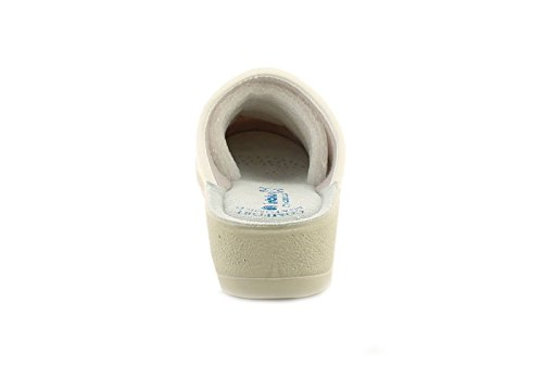 New Ladies/Womens Full Toe Step in Mule Wedge Sandals. - White - UK Sizes 2-8 MiQ3fXPSA