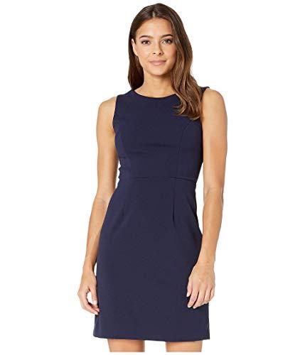 Betsey Johnson Scuba Crepe Cross-Back Dress Cobalt 12