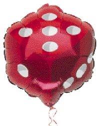 - Shindigz Mylar Balloon Dice Each