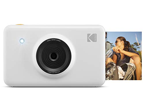 KODAK Mini Shot Wireless Instant Digital Camera & Social Media Portable Photo Printer, LCD Display, Premium Quality Full Color Prints, Compatible w/iOS & Android (White)