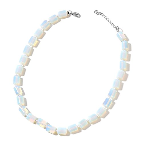 Shop LC Delivering Joy Opalite Beads Sterling Silver Strand Necklace for Women 18