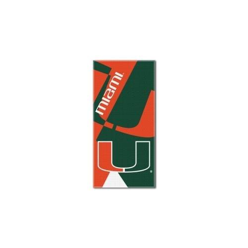 The Northwest Company NCAA Miami Hurricanes Puzzle Beach Towel, 34