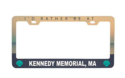 (R and R Imports Kennedy Memorial Massachusetts Sea Shell Design Souvenir Metal License Plate Frame)