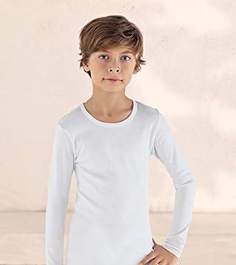 Crew Undershirt Super Soft 3 pk Tee Shirts. Boys/' Long Sleeve Cotton Tees