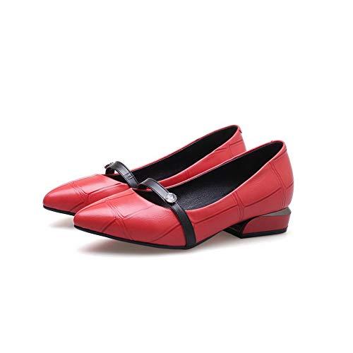 Donna red An Sandali Eu 35 Zeppa Rosso Con Dgu00739 4z7OqI