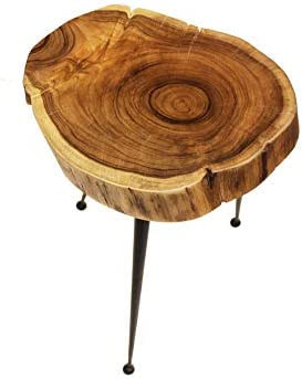 Mountain Woods Live Edge Stool/Side Table Made