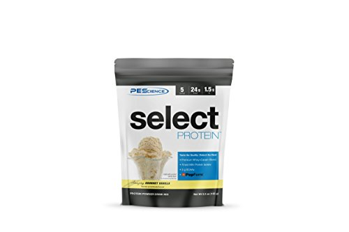 PEScience Select Protein, Premium Whey and Casein Blend (Gourmet Vanilla, 5 Serving) (Best Whey And Casein Blend Protein Powder)