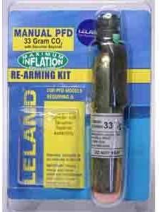 """Inflatable Life Jacket Rearming Kit, Manual, 33 g, 1/2"""" Bayonet"""
