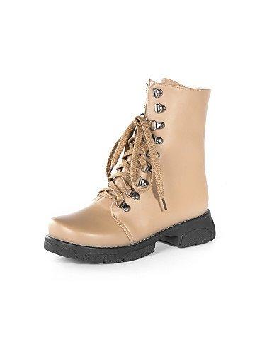 Botas Semicuero Xzz 5 Uk6 Zapatos Brown Oficina Cn39 us5 Eu36 Uk3 Punta Black De Casual Cerrada Y 5 Mujer Vestido Bajo Eu39 us8 Cn35 Redonda Trabajo Tacón Anfibias rZXrqw