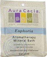 Aura Cacia Aromatherapy Mineral Bath Euphoria -- 2.5 - Euphoria Bath Mineral Aromatherapy