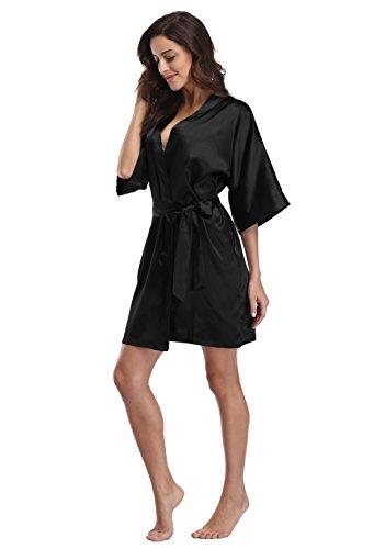 Luvrobes Women s Satin Kimono Robe fda1efc60