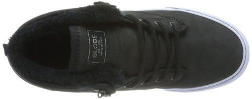 Black Globe Fur Motley skateboard Mid homme 20003 Chaussures Noir de qvqw0Bp