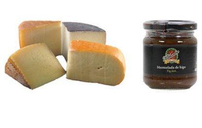 Spanish Caviar (Spanish Cheese Sampler, Assortment - 2 lbs + Fig Jam Mathambre, 220gr)