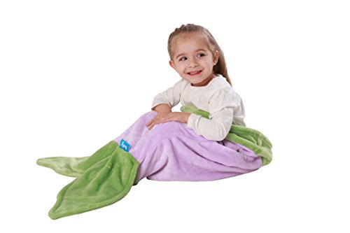 [ENFY Toddler Mermaid Tail Blanket - Super Soft and Warm Minky Fabric Blanket Perfect Gift for Toddlers Ages 1-4 (Purple &] (Mermaid Fairy Costumes)