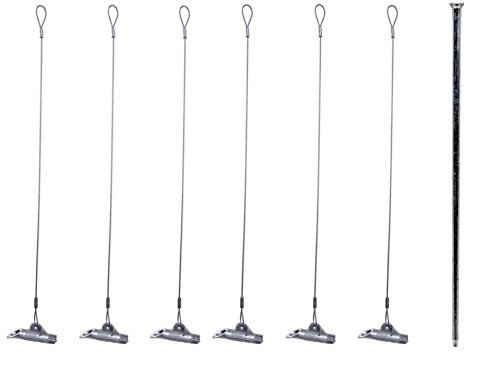 Pack of 6 - Duckbill Earth Anchor 68-DB1 - Includes 1 Drive Steel Tool by Duckbill