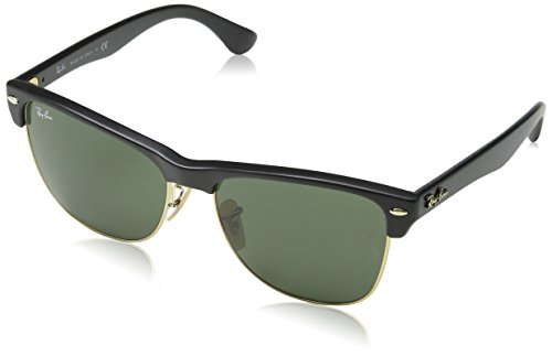 Ray-Ban Clubmaster Oversized Sunglasse, RB4175 877, Black, 57mm (Clubmaster Original)